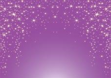 Fondo porpora con le stelle Illustrazione Vettoriale