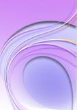 Fondo porpora con le strisce curve coloredovalelilladel anddi colore Fotografia Stock
