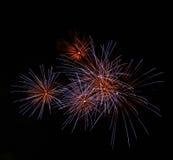 Fondo porpora dell'estratto del fuoco d'artificio Fotografie Stock Libere da Diritti