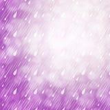 Fondo porpora della pioggia Fotografie Stock