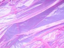Fondo porpora rosa del film plastico Fotografia Stock Libera da Diritti