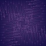 Fondo porpora tecnologico astratto con gli elementi del microchip illustrazione vettoriale