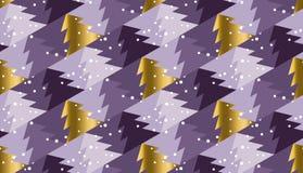 Fondo porpora viola di colore con l'albero di Natale Fotografia Stock
