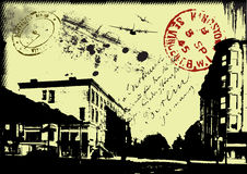 Fondo postal abstracto libre illustration
