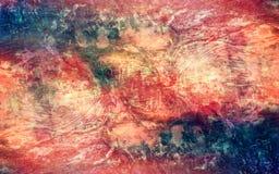Fondo potente de la textura del mapa del vintage multicolor artístico abstracto stock de ilustración