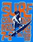Fondo praticante il surfing strutturato royalty illustrazione gratis