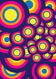 Fondo precioso colorido Diseño redondo de la forma circular Foto de archivo