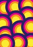 Fondo precioso colorido Diseño redondo de la forma circular Fotografía de archivo