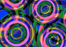 Fondo precioso colorido Diseño redondo de la forma circular Fotos de archivo