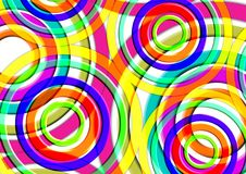 Fondo precioso colorido Diseño redondo de la forma circular Imagen de archivo