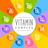 Fondo principal de las vitaminas para su diseño Foto de archivo