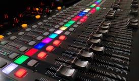 Fondo profesional de la consola de la música fotos de archivo libres de regalías