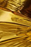 Fondo profondo ad alta densità di struttura dell'oro Fotografia Stock