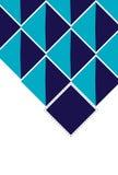 Fondo profondo astratto del blu dei quadrati Fotografia Stock