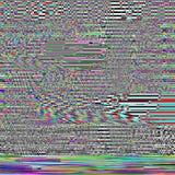 Fondo psichedelico di impulso errato Vecchio errore dello schermo della TV Progettazione dell'estratto di rumore del pixel di Dig Fotografie Stock Libere da Diritti