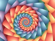 Fondo psichedelico pastello di spirale dell'arcobaleno fotografia stock