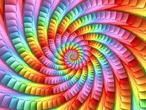 Fondo psichedelico pastello di spirale dell'arcobaleno fotografia stock libera da diritti