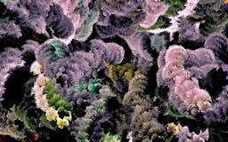 Fondo psicodélico abstracto caótico de arreglado coloreado entrelazado, web de líneas finas imagen de archivo