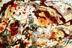 Fondo psicodélico, abstracto en tonos vivos en el contexto blanco Imagen de archivo libre de regalías