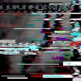 Fondo psicodélico de la interferencia Viejo error de la pantalla de la TV Diseño del extracto del ruido del pixel de Digitaces In Fotos de archivo libres de regalías