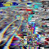 Fondo psicodélico de la interferencia Viejo error de la pantalla de la TV Diseño del extracto del ruido del pixel de Digitaces In Fotos de archivo