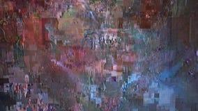 Fondo psicodélico de la interferencia Viejo error de la pantalla de la TV Diseño del extracto del ruido del pixel de Digitaces In metrajes