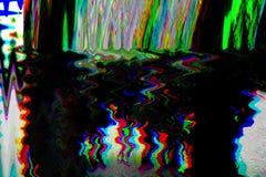 Fondo psicodélico de la interferencia Viejo error de la pantalla de la TV Diseño del extracto del ruido del pixel de Digitaces In imágenes de archivo libres de regalías