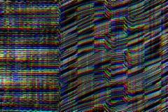 Fondo psicodélico de la interferencia Viejo error de la pantalla de la TV Diseño del extracto del ruido del pixel de Digitaces In Imagenes de archivo