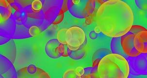 Fondo psicodélico de las burbujas stock de ilustración