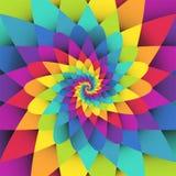 Fondo psicodélico del espiral brillante del arco iris Imagenes de archivo