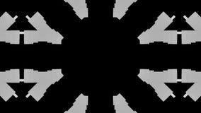 Fondo psicodélico loco de las formas almacen de metraje de vídeo