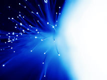 Fondo óptico azul de fibra Imagenes de archivo