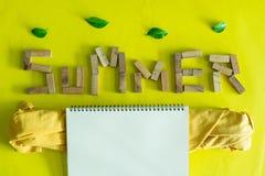 Fondo puesto plano para la estación de verano foto de archivo libre de regalías