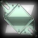 Fondo pulido del metal con el vidrio 3D rendido ilustración del vector