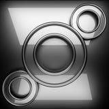 Fondo pulido del metal 3D rendido ilustración del vector