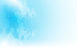 Fondo pulito di concetto di progettazione della struttura di chimica di formula del modello di struttura di scienza astratta illustrazione vettoriale