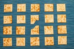Fondo pungente dei cracker Fotografia Stock