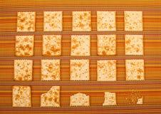 Fondo pungente dei cracker Fotografie Stock Libere da Diritti