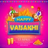 Fondo punjabi felice di celebrazione di festival di Vaisakhi royalty illustrazione gratis
