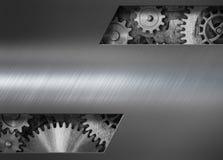 Fondo punk del metallo del vapore con l'illustrazione dei denti e degli ingranaggi 3d fotografie stock
