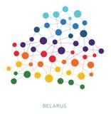 Fondo punteado del vector de Bielorrusia de la textura Foto de archivo libre de regalías