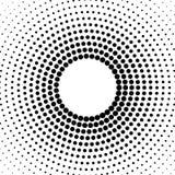 Fondo punteado tono medio distribuido circular halftone Foto de archivo