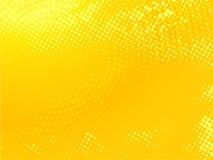 Fondo punteggiato giallo Fotografia Stock Libera da Diritti