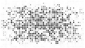 Fondo punteggiato semitono Modello di semitono di vettore di effetto Circ illustrazione vettoriale