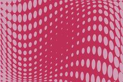 Fondo punteggiato semitono rosa stile di Pop art Retro modello con i cerchi, punti Immagini Stock