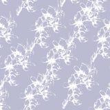 Fondo purpúreo claro floral de las flores blancas estilizadas del contorno ilustración del vector