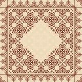 Fondo quadratico con l'ornamento d'annata Royalty Illustrazione gratis