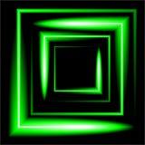 Fondo quadrato al neon verde di vettore Immagini Stock
