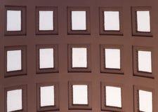 Fondo quadrato bianco dell'arco Architettura fotografia stock libera da diritti