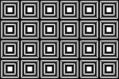 Fondo quadrato in bianco e nero Immagini Stock